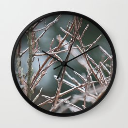 Icy Plant 2 Wall Clock