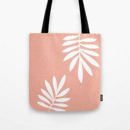 White tropical leaves Tote Bag