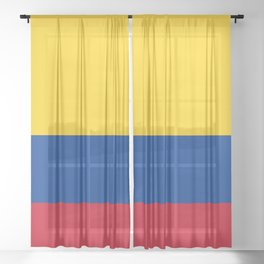Colombian Flag - Flag of Colombia Sheer Curtain