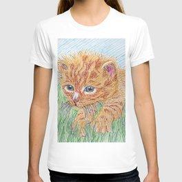 Kitten in grass T-shirt