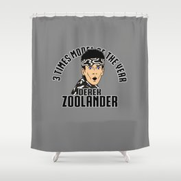 3 times model of the year Shower Curtain