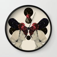 helen Wall Clocks featuring helen and clytemnestra by cardboardcities