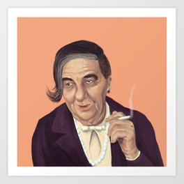 The Israeli Hipster leaders - Golda Meir Art Print