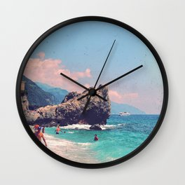 Like An Italian Riviera Postcard Wall Clock
