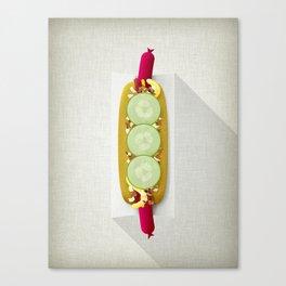 Red Hotdog Canvas Print