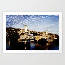 Bridge - Portland Ore Art Print