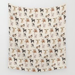 Vintage Goat All-Over Fabric Print Wall Tapestry
