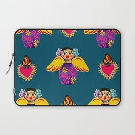 Angels and Corazones (flaming hearts) Laptop Sleeve