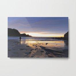 New Zealand Beach Sunrise Metal Print