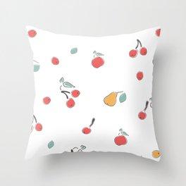 Sweet Summer Fruits Throw Pillow