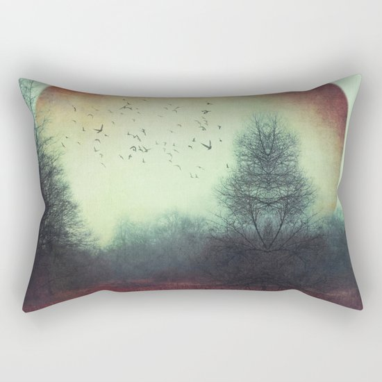 unReality - Fantastic Landscape with Red Planet Rectangular Pillow