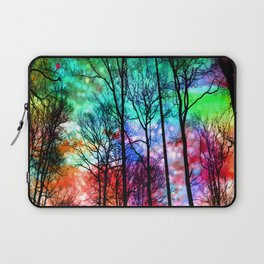 colorful abstract forest Laptop Sleeve