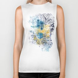 Wild Eclipse - Abstract Painting I Biker Tank
