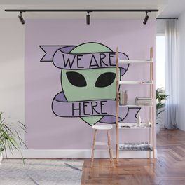We Are Here (Purple) Wall Mural