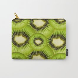 TROPICAL GREEN KIWI SLICED FRUIT MODERN ART Carry-All Pouch