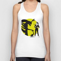 Alien Cartoon Style - Green Unisex Tank Top