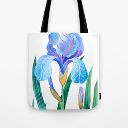 Light Blue Iris Tote Bag