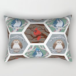 Fat Birds Pattern Rectangular Pillow