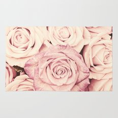 Some people grumble I Floral rose roses flowers pink Rug