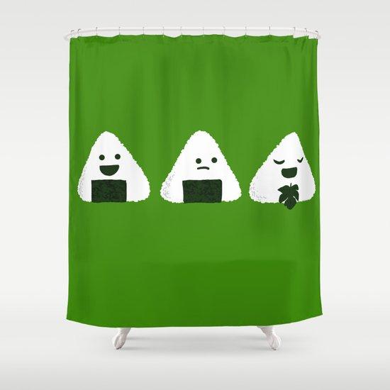 Nude Onigiri Shower Curtain
