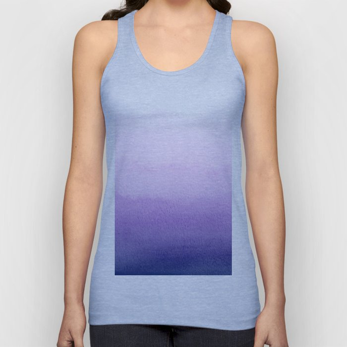 Purple Watercolor Design Unisex Tank Top