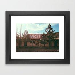 Boundary Peak abandoned motel Framed Art Print