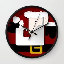 Red Santa Wall Clock