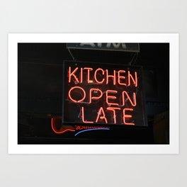 Kitchen Open Late Art Print