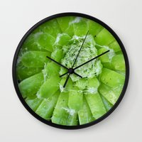 succulent Wall Clocks featuring Succulent by constarlation