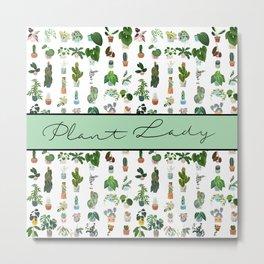 Plant Lady Confetti  Metal Print