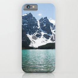 Landscape Lake Moraine Mountains iPhone Case
