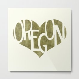 I Love Oregon Metal Print