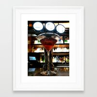 martini Framed Art Prints featuring Martini by CandaceP.rice