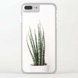 Trendy Cactus plant Clear iPhone Case