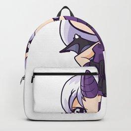 Daemon girl with horn Backpack