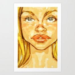 Woman_Lips Art Print