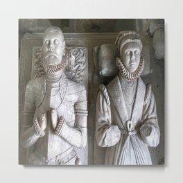 Vector Of Alabaster Effigies At Wentworth Church Metal Print