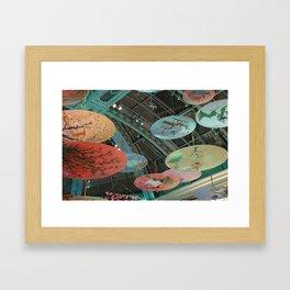 Flying Japanese Umbrellas Framed Art Print