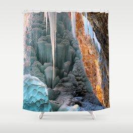 Frozen Waterfall  Hanging Lake Winter Colorado Shower Curtain