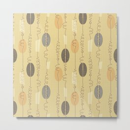 Midcentury Lineart Saffron Metal Print