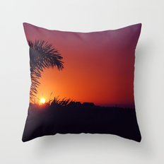 sunset in mexico Throw Pillow