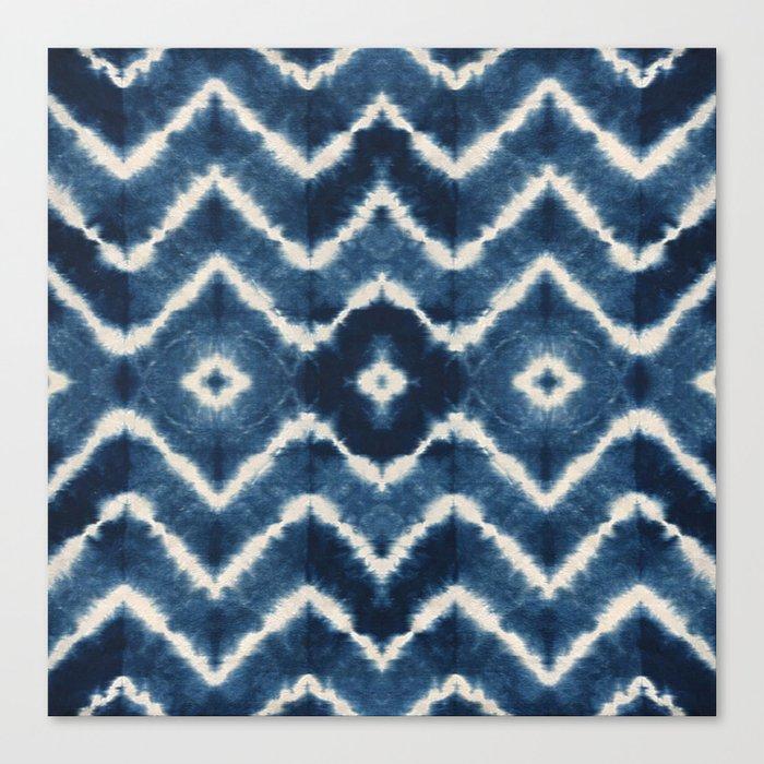 Shibori, tie dye, chevron print Leinwanddruck