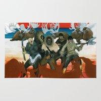 mythology Area & Throw Rugs featuring Inuit Mythology: Chapter 1, part 6 by Estúdio Marte