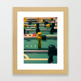 Foosball Framed Art Print