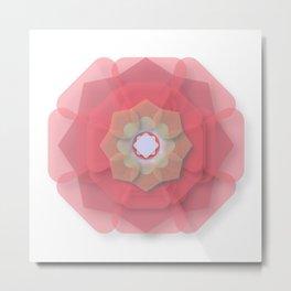 Pink Floral Meditation Metal Print