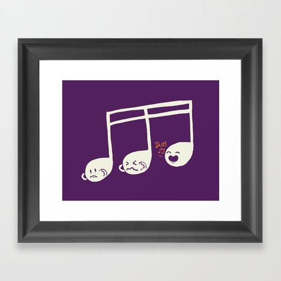 Sounds O.K. (off key) Framed Art Print