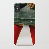 socks iPhone & iPod Cases featuring Red Socks by Premium