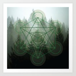 Pine Tree Sacred Geometry Art Print