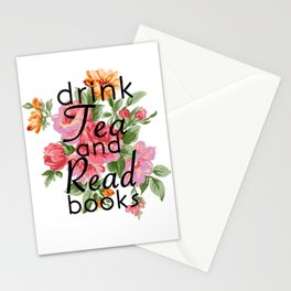 Drink Tea and Read Books Stationery Cards