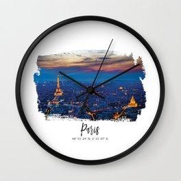 Paris City of lights Wall Clock